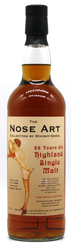 Highland Single Malt 22 Jahre 1996 Nose Art Collection by Whisky-Doris